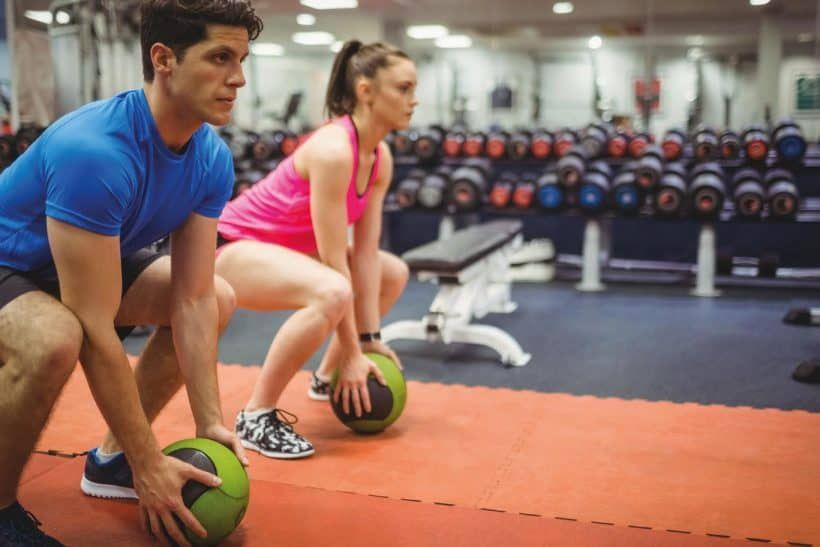 Medicine ball workouts are portable