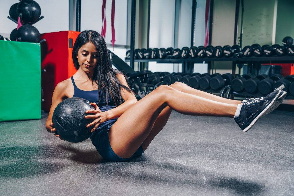 benefit of medicine ball workouts with the situp twist.