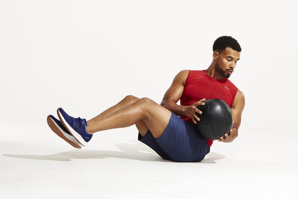 coordination by medicine ball workout