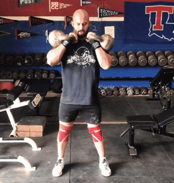Male kettlebell dual workout