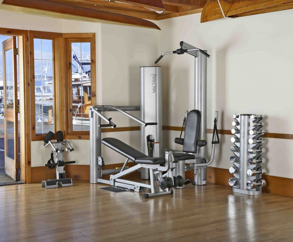 beautiful stainless steel home gym