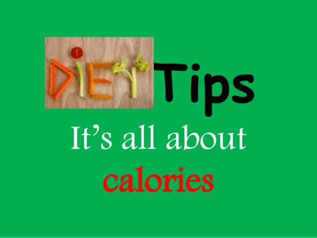 burning fat is all about calorie intake