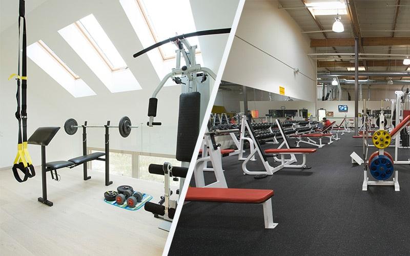 Gym membership vs home gym comparison