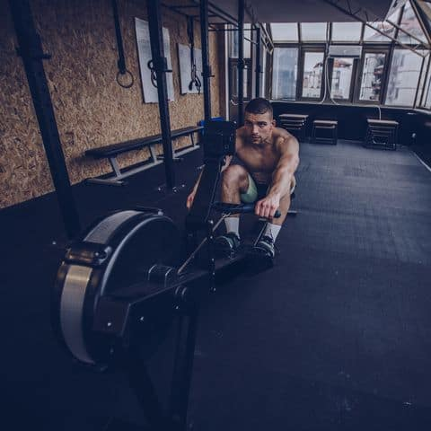 HIIT workout Rowing machine